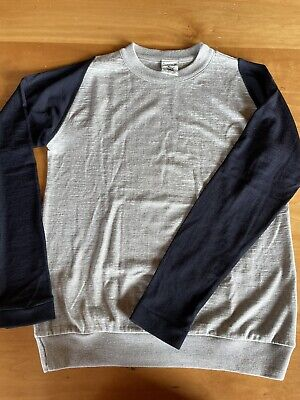 NWOT SNS HERNING light weight wool sweater size M/L grey/blue NICE