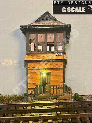 G Scale YELLOW SWITCH TOWER - Building Flat Trackside Flats w/LED - LGB PICO