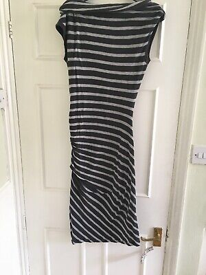 James Perse Striped Dress Boat Neck Size 2