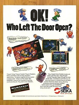 Troddlers SNES Super Nintendo 1993 Vintage Print Ad/Poster Authentic Retro Art