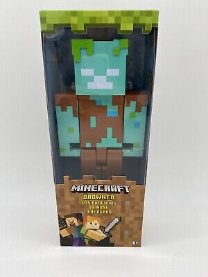 Minecraft Drowned Figure Mattel New In Box