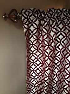 Ikea ANDREA curtains 2 panels, rod and wall hook 60$