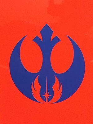 Rebel Alliance Jedi Order Logo Vinyl Decal Sticker Star Wars White  Red 1 2 3 4