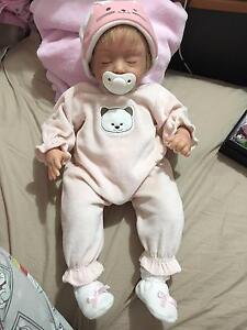 Ashton Drake Reborn lifelike baby doll girl pink clothes. Reborn Docklands Melbourne City Preview
