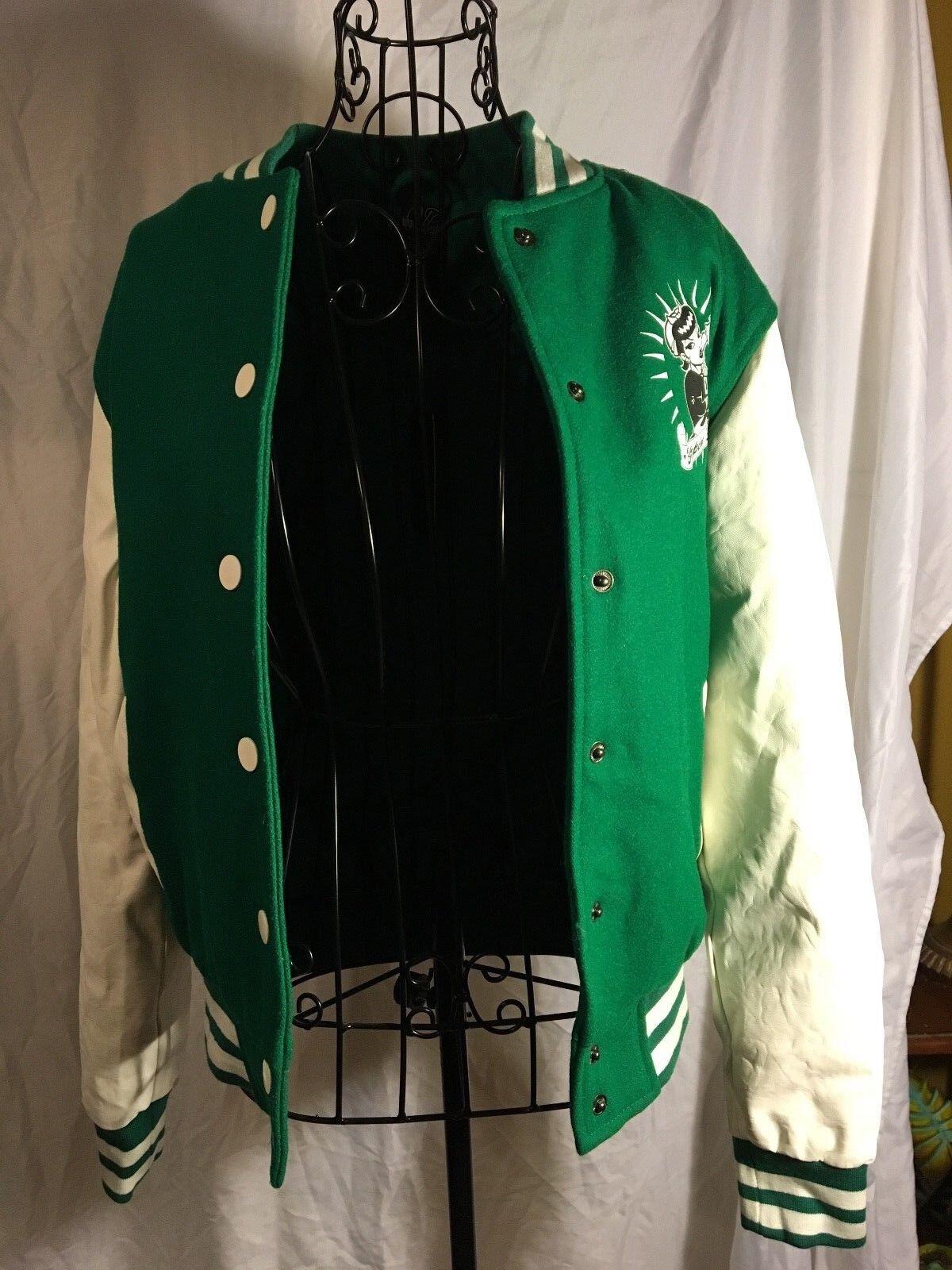 Купить Urban Classics - NWT Teen girl's Urban Classics old school jacket green and white size medium