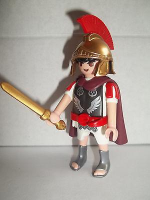 Playmobil,ROMAN SOLDIER,Centurian,Officer with HTF SHINY GOLDEN HELMET # 756 - Soldier With Helmet