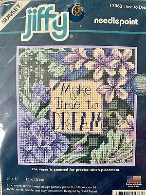 Dimensions Sunset Jiffy Counted Cross Stitch Kit Time to Dream 17063 (Jiffy Counted Cross Stitch)