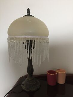 Lamp | Beaded Alabaster Glass Shade |Classic