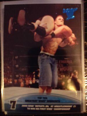2013 Topps Best of WWE Top Ten Greatest Moments #7 John Cena Defeats