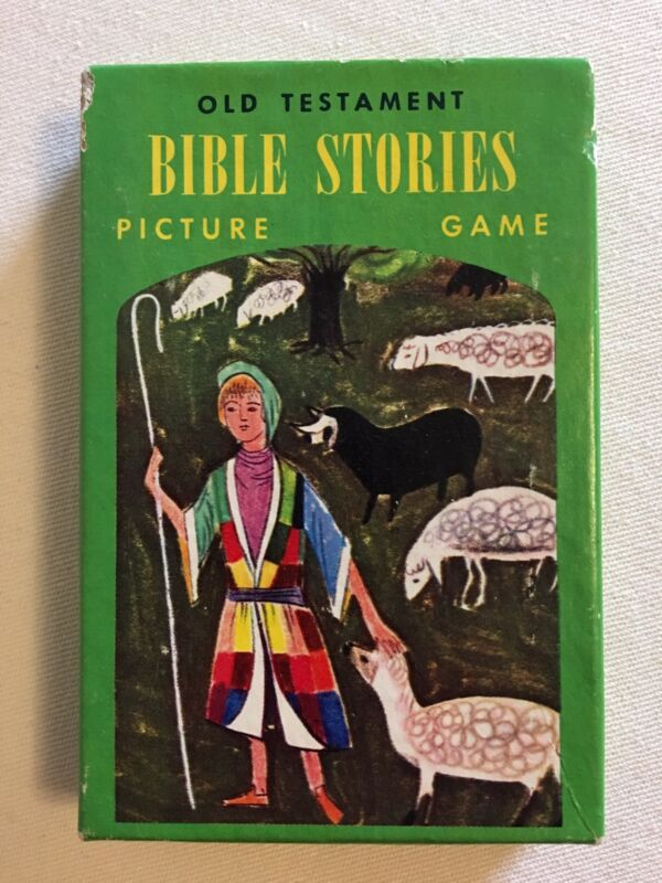 Fairchild Card Game ~ OLD TESTAMENT BIBLE STORIES PICTURE CARD GAME VTG Complete