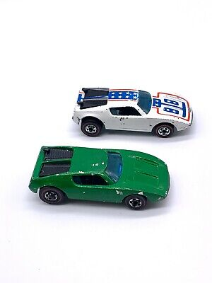 Hot Wheels Redline WARPATH White Enamel Flying Colors & Xploder Green Emerald