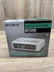 New NOS Sony Dream Machine ICF-C240 AM/FM Digital Clock Radio White