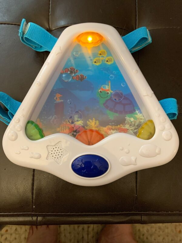 Baby Einstein Crib Soother Small Triangle Musical Sea Turtle Fish Music Lights