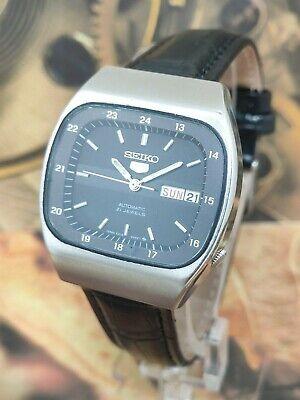 1970's Rare Seiko 5 Automatic Men's Wrist Watch-Military Dial Watch