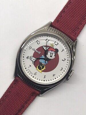 Ingersoll Minnie Mouse Golden Years Repro 1940s Wrist Watch Quartz Disney 35mm