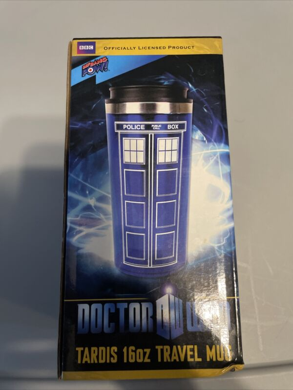 Doctor Who Travel Coffee Mug - TARDIS Insulated Tumbler Cup 16oz Bottle