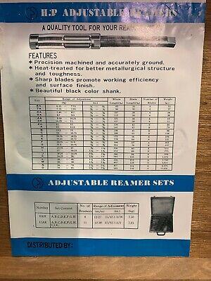 H.p Adjustable Reamer Set