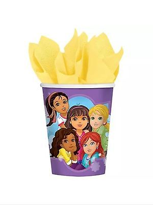 Dora and Friends Party Supplies Paper 9oz Cups-8ct. Dora 9 Oz Cups