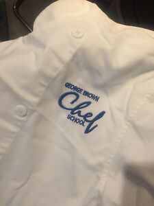 Xs and Sm George brown collage chef jackets
