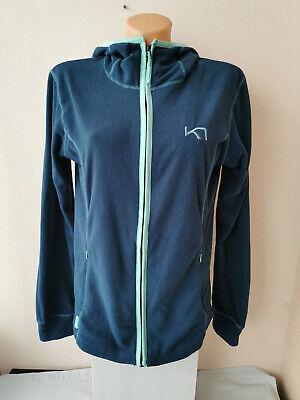 KARI TRAA Women's Fleece Outdoor Hooded Jacket size L BLUE