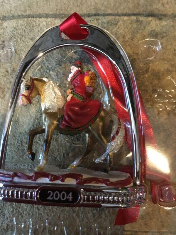 Breyer Horse 2004 Father Christmas Holiday Stirrup Ornament #700604 NIB