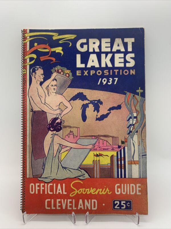Original 1937 Great Lakes Exposition Official Souvenir Guide Cleveland Ohio