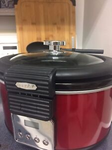 5QT Red Bella Programmable Slow Cooker