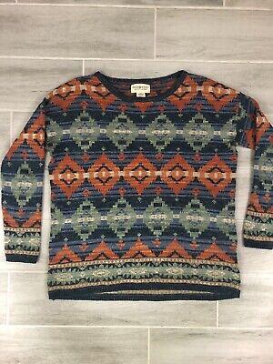 Denim & Supply Ralph Lauren 100% Cotton  Southwestern Aztec Print Sweater Size M