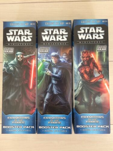LOT 3 2006 STAR WARS MINIATURES CHAMPIONS OF THE FORCE BOOSTER PACKS