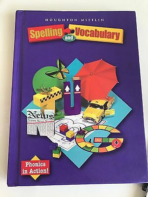 Houghton Mifflin SPELLING AND VOCABULARY Student Textbook GRADE 3 - 3rd Grade