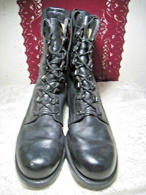 Vintage Cove Shoe Company Black Leather Military Combat Flyer Boots 9D