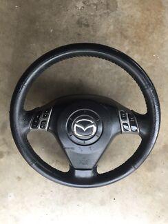 Mazda 3 leather steering wheel