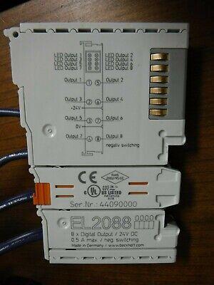 Beckhoff El2088 8 Point Digital Output Module 24 Vdc