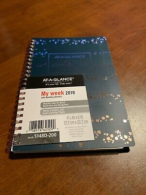 At-a-glance Badge Splatter Dots Weeklymonthly Planner 4 78 X 8 January To