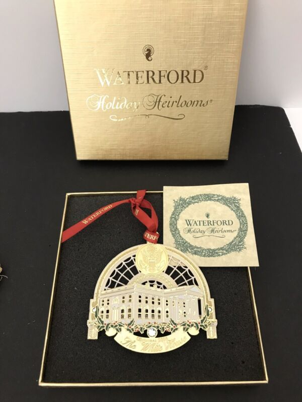 Waterford Holiday Heirlooms White House Christmas Ornament 2005