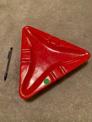 ** Vintage RARE Retro Atomic Ceramic Speckled Ash Tray Bright Red NWT **