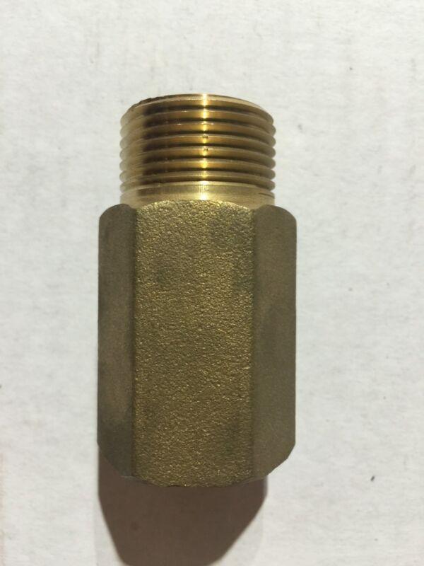 "Brass Sprinkler Head Extension: 1-1/2"" Long x 3/4"" Diameter."