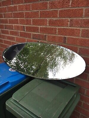 Vintage Large Oval Bevelled Edge Mirror