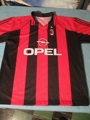 VINTAGE SOCCER (Futball) Jersey AC MILAN OPEL Size XL