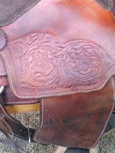"""15 1/2"""" Great West Leather Company Roping  Saddle"""