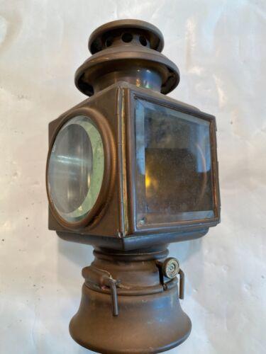 AUTOMOTIVE ANTIQUE BRASS SIDE LAMPS - TWO