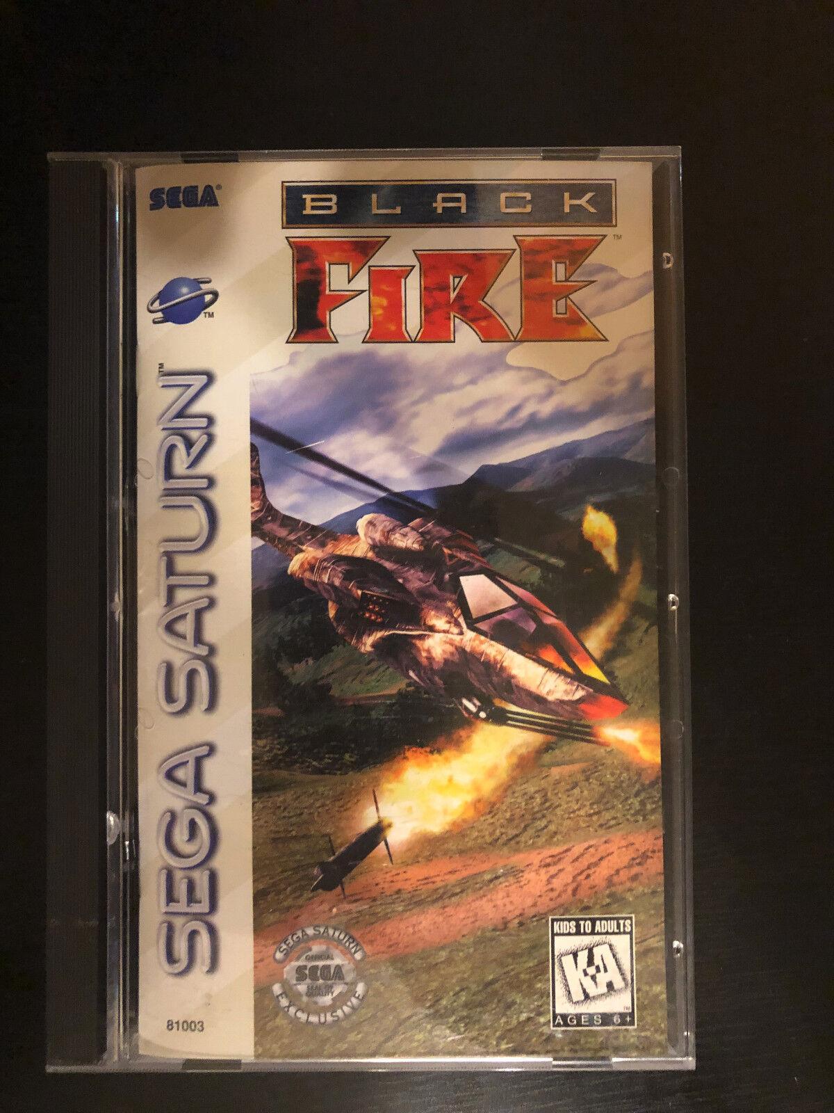 Black Fire Sega Saturn, 1996 Complete In Box, Very Good Condition - $17.50
