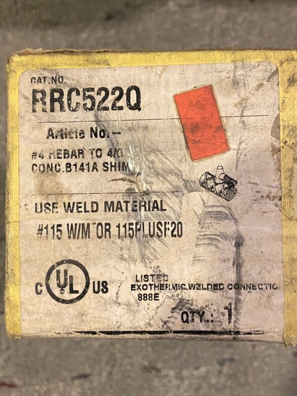 Erico Cadweld Mold RRC522q Cable To Rebar