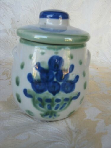 Beautiful M.A. Hadley Blueberry Bouquet Sugar Bowl and Lid