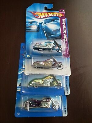 Hot Wheels Scorchin' Scooter Variation & Airy 8 Lot of 4