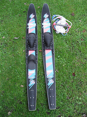 CONNELLY FACTOR 5 COMBOS WATER SKING SKIS GOOD CONDITION W/ TOW ROPE
