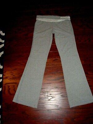 Abercrombie & Fitch/A&F gray foldover waist stretch yoga pants - Size M