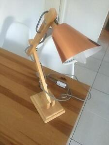 Rose gold desk lamp Yamanto Ipswich City Preview
