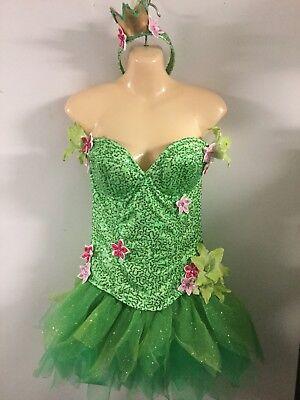 Tinkerbell Sequin Costume (Starline Frog Princess Fairy Tinkerbell Sequin Sexy Womens Costume L)
