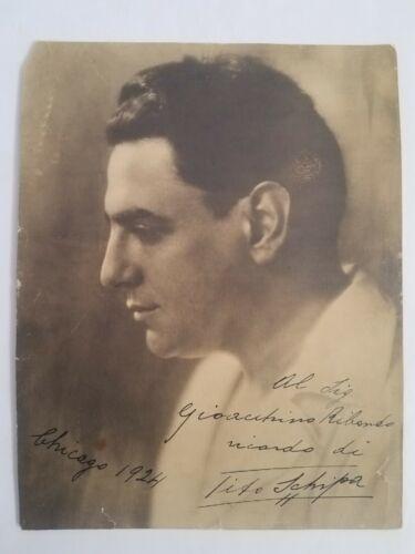 Signed 7 x 9 Photograph of Tito Schipa (1889-1965) Opera Tenor, Dated 1924
